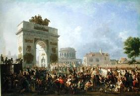 Entry of the Imperial Guard into Paris at the Barriere de Pantin, 25th November 1807