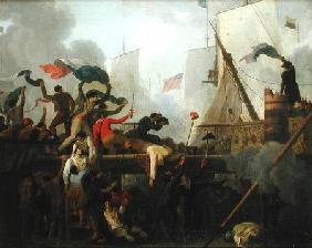 Heroism of the Crew of 'Le Vengeur du Peuple' at the Battle of Ouessant