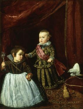 Baltasar Carlos and Dwarf / Velázquez