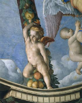 Bronzino, Putto with fruit garland