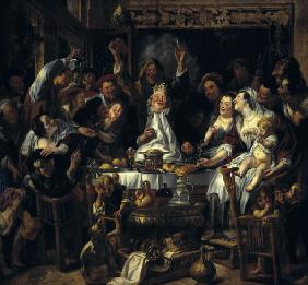 J.Jordaens, The King drinks
