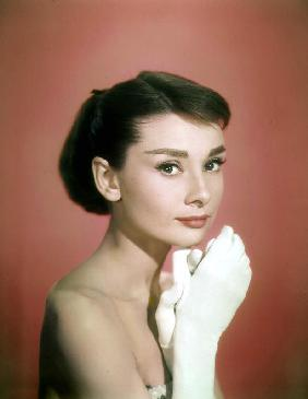 Portrait of the American Actress Audrey Hepburn, photo for promotion of film Sabrina