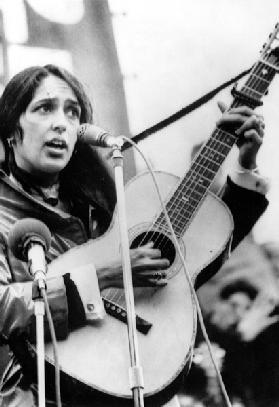Protest Folk Singer Joan Baez performing