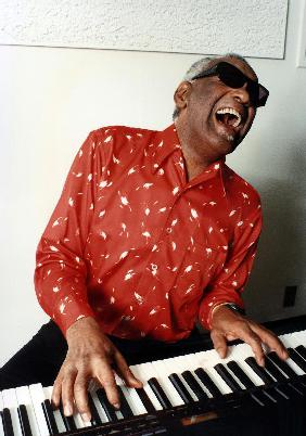 Ray Charles at home in Los Angeles February 1