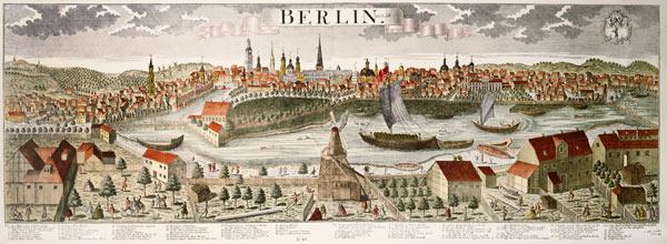 View of Berlin a. Spree , Engraving