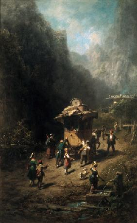 Spitzweg / Travelling Show / Painting