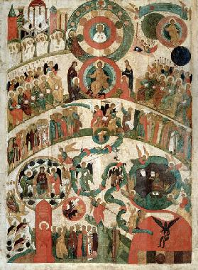 The Last Judgement, icon from the Novgorod school
