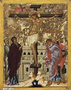 The Crucifixion of Our Lord, Russian icon from the Cathedral of St. Sophia