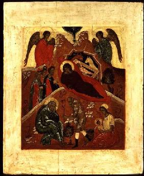 Icon of the Nativity, the Adoration of the Magi and the Temptation of St. Joseph