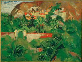 Italian landscape with gate, Levanto