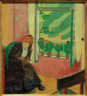 Black woman at the window (Marg Moll)