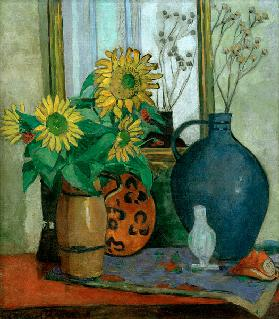 Sunflowers with Matisse shell