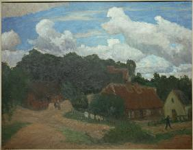 View of Worpswede with Weyerberg
