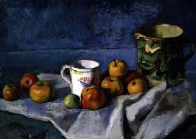 Still Life with Apples, Cup and Pitcher