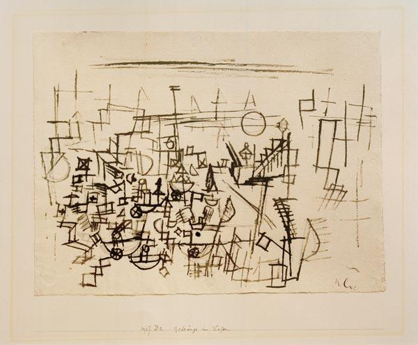 menigte in de haven Paul Klee