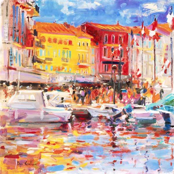 Le Port de St Tropez, 2002 (oil on canvas)