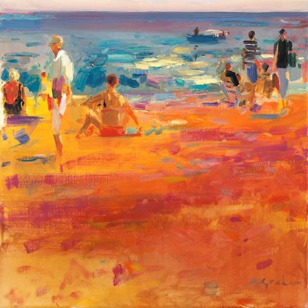 Scene de Plage (oil on canvas)
