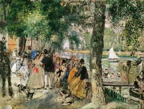 Bathing on the Seine or, La Grenouillere c.1869