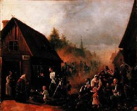 Scene from the Russian-French War in 1812