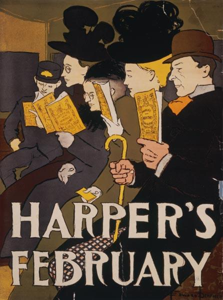 Harper's February, Von Edward Penfield
