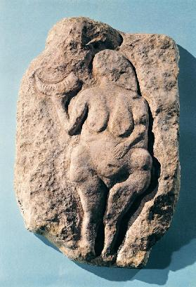 Venus with a horn, from Laussel in the Dordogne