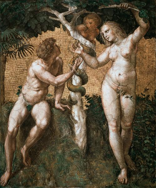 Adam and Eve, from the 'Stanza della Segnatura'