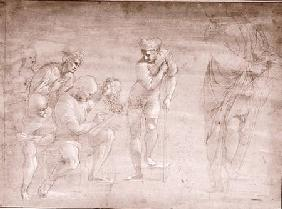 Pythagoras, drawing for the 'School of Athens' fresco cil &