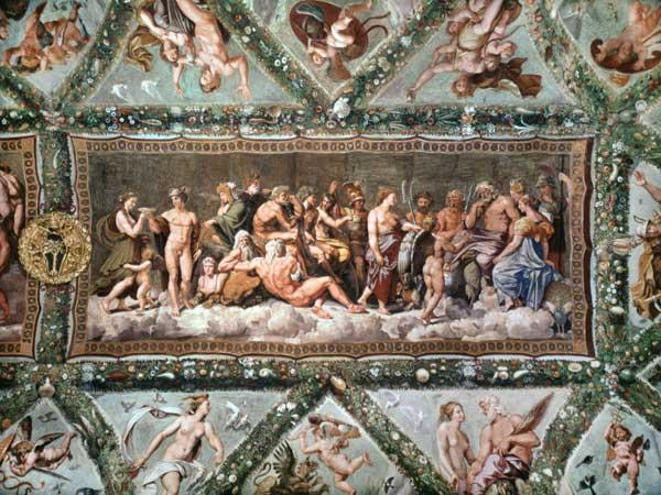 The Council of the Gods, ceiling painting of the Courtship and Marriage of Cupid and Psyche