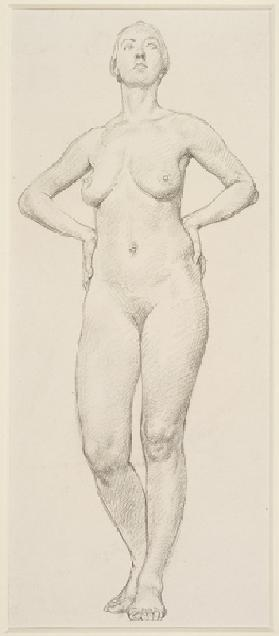 A Study of a Female (pencil on paper)