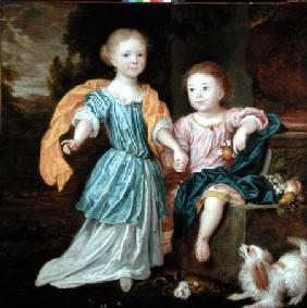 Portrait of a Young Girl and Boy, said to be the children of Sir William Reynolds Lloyd