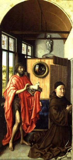 St. John the Baptist and the Donor, Heinrich Von Werl from the Werl Altarpiece