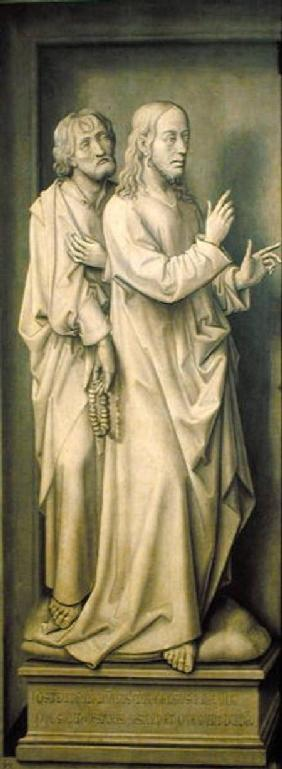 Christ and a Disciple, from the Redemption Triptych