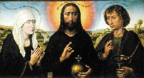 Christ the Redeemer with the Virgin and St. John the Evangelist, central panel from the Triptych of