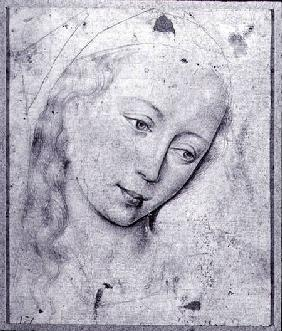 Head of the Virgin (b/w print)