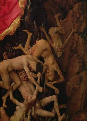 The Last Judgement, detail of the fall of the damned to hell