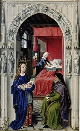 The Nativity of John the Baptist (The Altar of St. John, left panel)