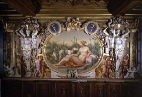 The Nymph of Fontainebleau, detail of decorative scheme in the Gallery of Francis I