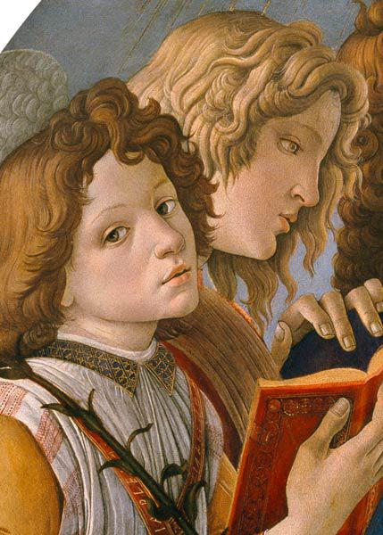 Botticelli, Heads of the group of angels