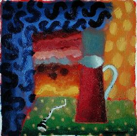 Red Jug (oil on card)