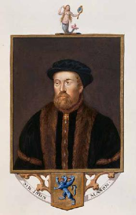 Portrait of Sir John Mason (1503-66) from 'Memoirs of the Court of Queen Elizabeth'
