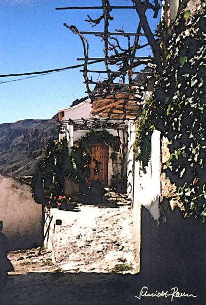 Haus am berg j rgen schmidt raven als kunstdruk of als for Modernes haus am berg