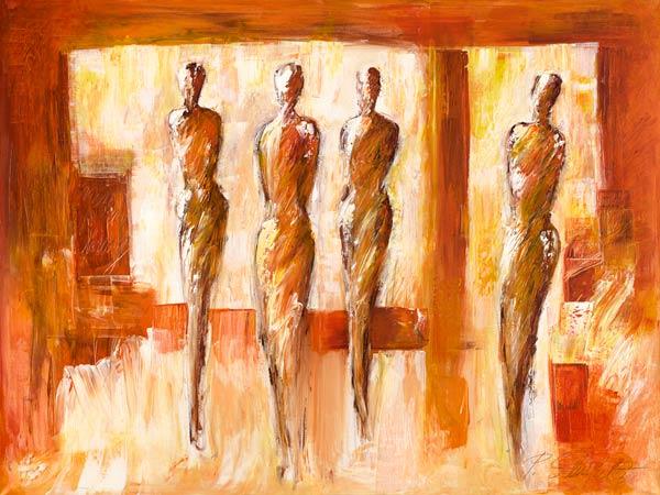 Afbeelding petra schüßler vier figuren in orange