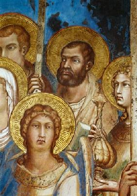 Maesta, detail of the saints