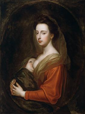 Portrait of Lady Mary Boyle (1566-1673) and Her Son Charles Boyle (d.1720)
