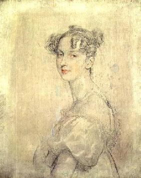 Portrait of Princess Darya Lieven (1785-1857), 1820-23 (pencil, red and white