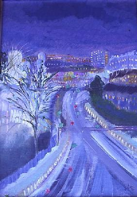 Hammersmith to Barons Court,1996 (oil on canvas)