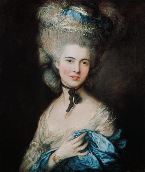 Dame in blau (Portrait von Duchess of Beaufort)