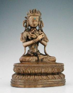 Vajradhara (copper alloy & gems)