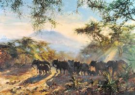 Elephant, Kilimanjaro, 1995 (oil on canvas)