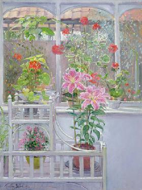 Through the Conservatory Window, 1992 (oil on canvas)